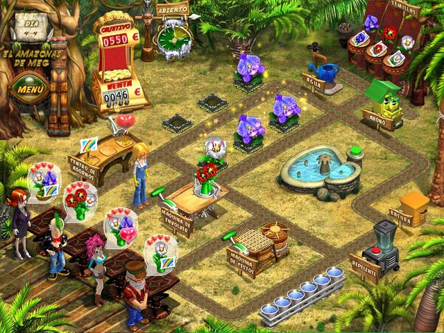 juego pc flower shop city break: